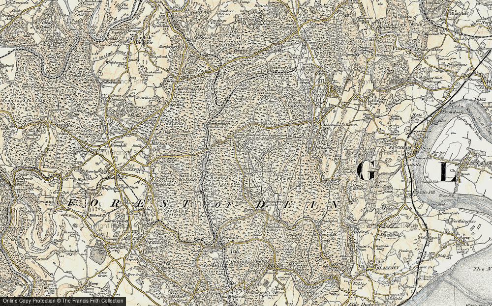 Old Map of Forest of Dean, 1899-1900 in 1899-1900