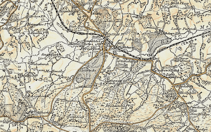 Old map of Forest Row in 1898-1902
