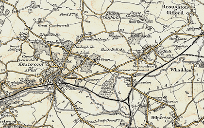 Old map of Forewoods Common in 1898-1899