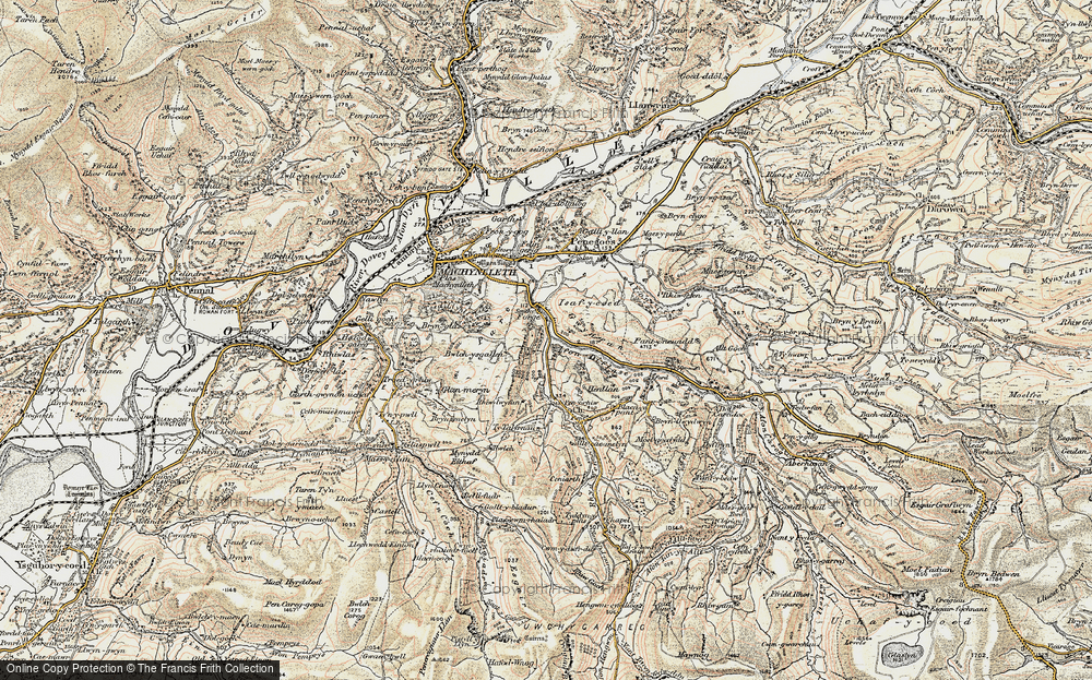 Old Map of Historic Map covering Allt-cae-melyn in 1902-1903