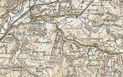 Old map of Allt-cae-melyn in 1902-1903