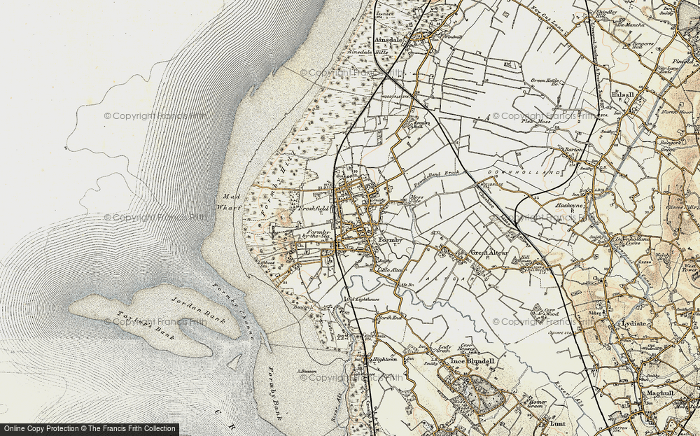 Old Map of Formby, 1902-1903 in 1902-1903