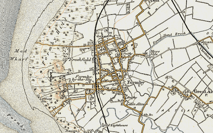 Old map of Formby in 1902-1903