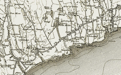 Old map of Forse in 1911-1912