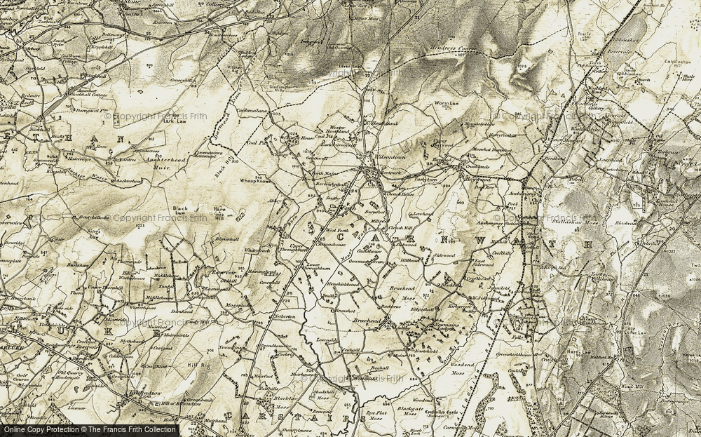Old Map of Historic Map covering Abbey Burn in 1904-1905