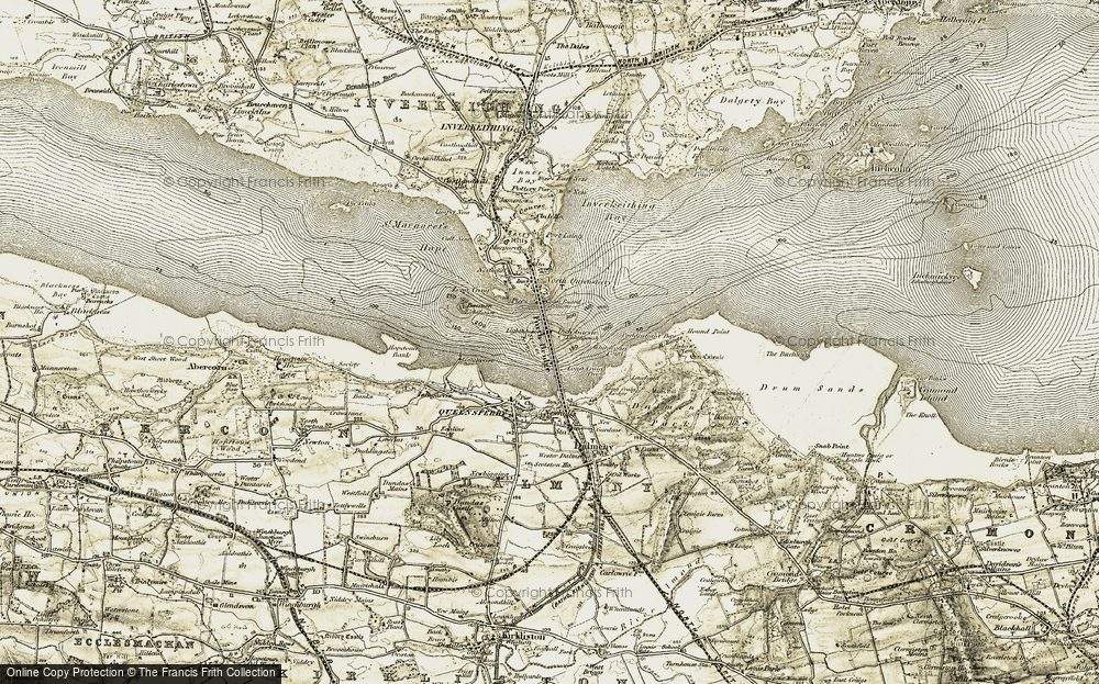 Old Map of Historic Map covering Whitehouse Point in 1903-1906