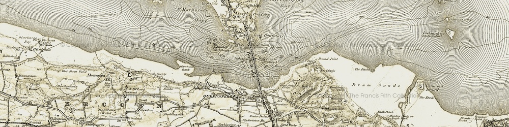 Old map of Whitehouse Point in 1903-1906