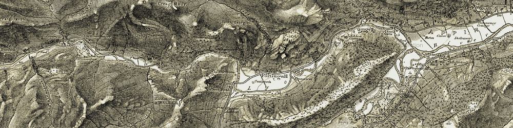 Old map of Woodend in 1906-1908