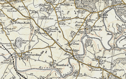 Old map of Forton in 1902
