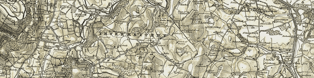 Old map of Westfield in 1908-1910