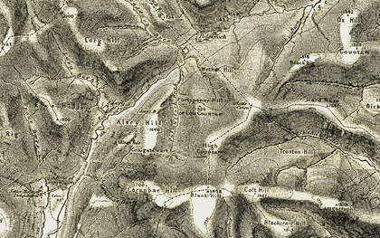 Old map of Allan's Cairn in 1904-1905
