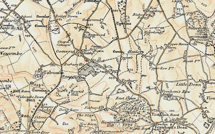 Old map of Fosbury in 1897-1900
