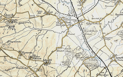Old map of Westcote Brook in 1898-1899