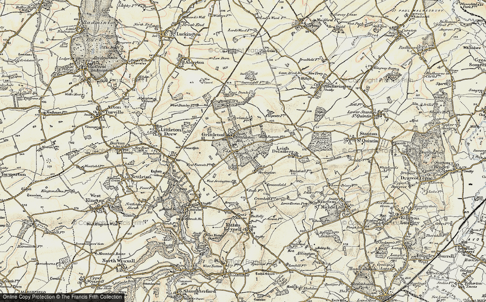 Old Map of Foscote, 1898-1899 in 1898-1899
