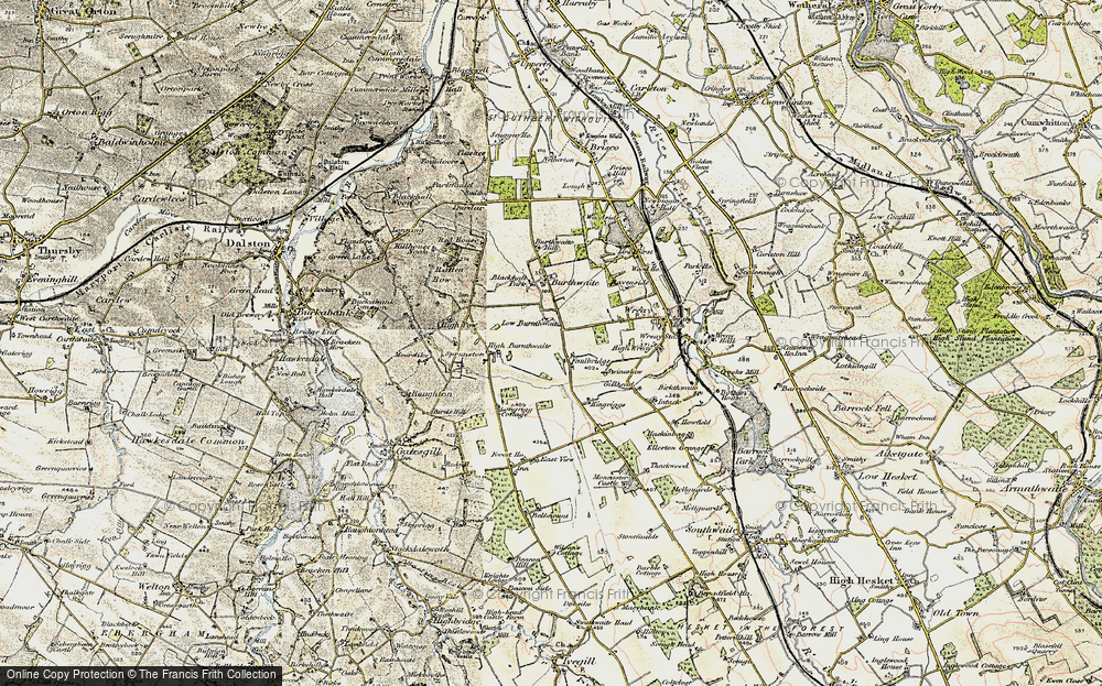 Old Map of Historic Map covering Bankdale Park in 1901-1904