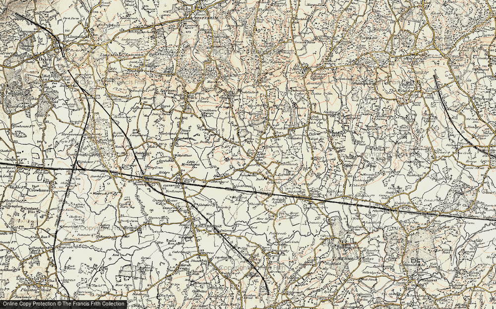 Old Map of Four Elms, 1898-1902 in 1898-1902