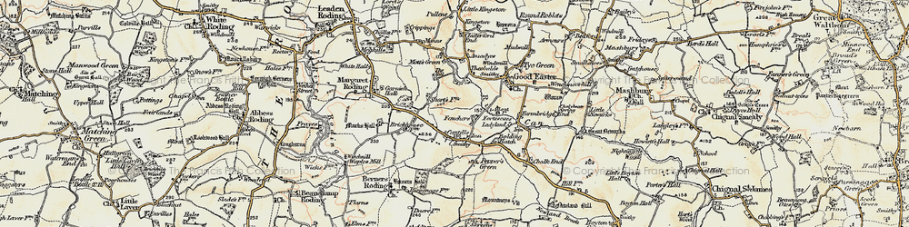 Old map of Amadyes in 1898