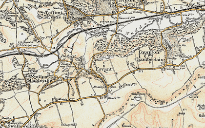 Old map of Fovant in 1897-1899