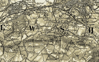 Old map of Lapwing Lodge in 1905-1906