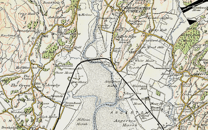 Old map of Foxfield in 1903-1904