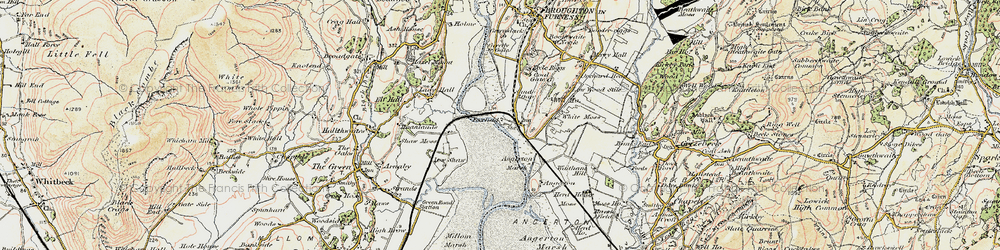 Old map of Angerton in 1903-1904