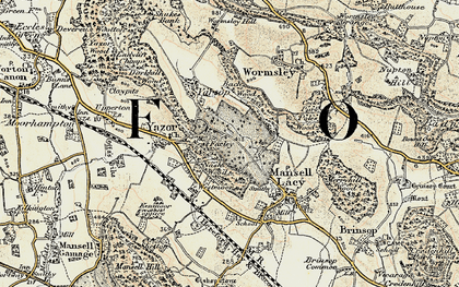 Old map of Bache Wood in 1900-1901