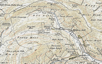 Old map of Yorkshire Dales National Park in 1903-1904