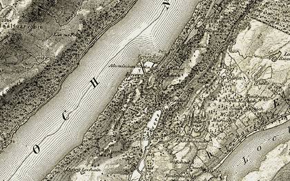 Old map of Foyers in 1908-1912