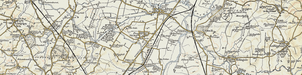 Old map of Whitemoor Haye in 1902