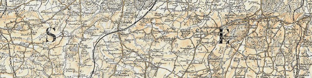 Old map of Framfield in 1898