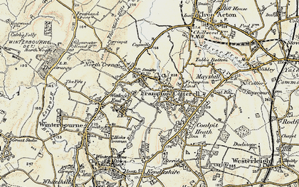 Old map of Frampton Cotterell in 1899