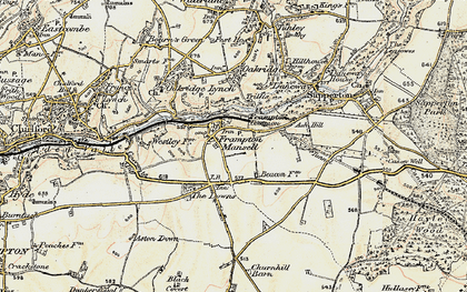 Old map of Ash Hill in 1898-1899