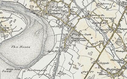 Old map of Frampton On Severn in 1898-1900