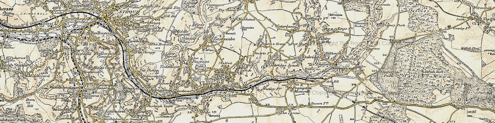 Old map of France Lynch in 1898-1899