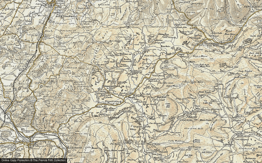 Old Map of Historic Map covering Allt-y-Coryn in 1900-1903