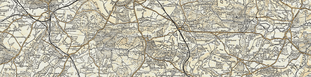 Old map of Frant in 1897-1898
