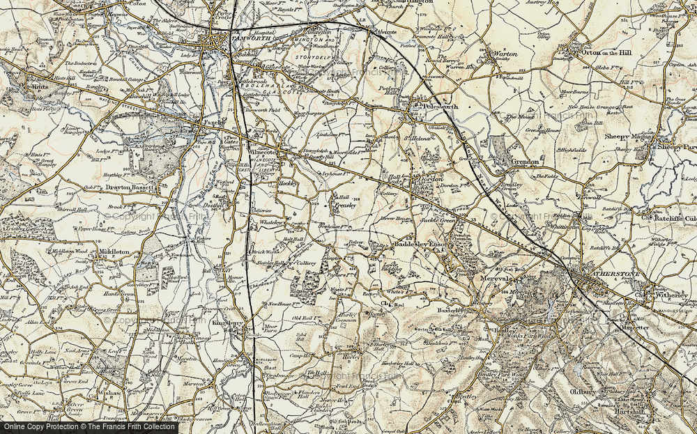 Old Map of Freasley, 1901-1902 in 1901-1902