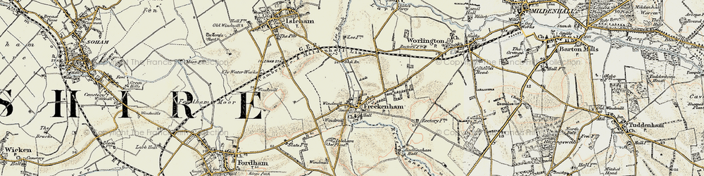 Old map of Lee Brook in 1901