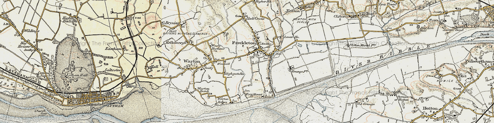 Old map of Freckleton in 1903