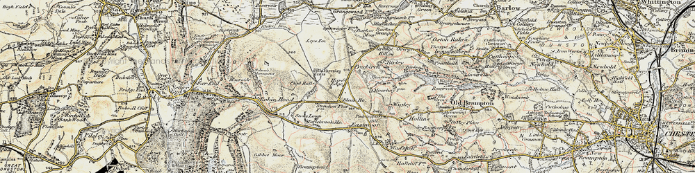 Old map of Whibbersley Cross in 1902-1903