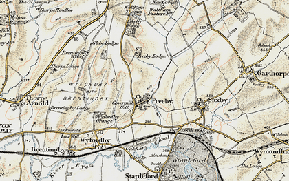 Old map of Freeby in 1901-1903