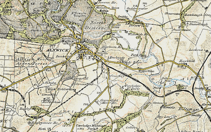 Old map of Allerburn Ho in 1901-1903