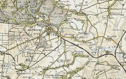 Old map of Alndyke in 1901-1903