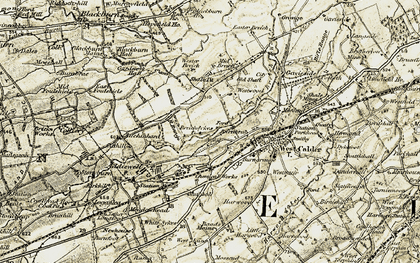 Old map of Wester Breich in 1904-1905