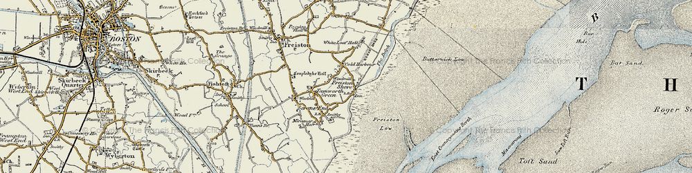Old map of White Loaf Hall in 1901-1902