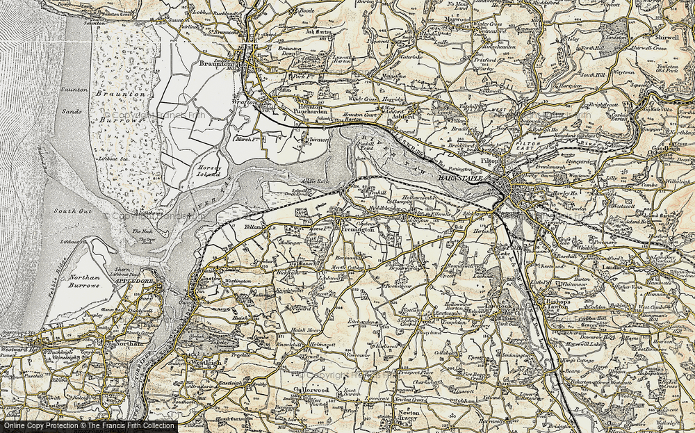Old Map of Fremington, 1900 in 1900