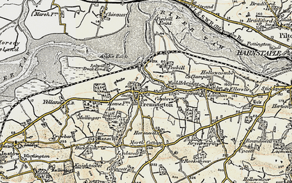 Old map of Fremington in 1900