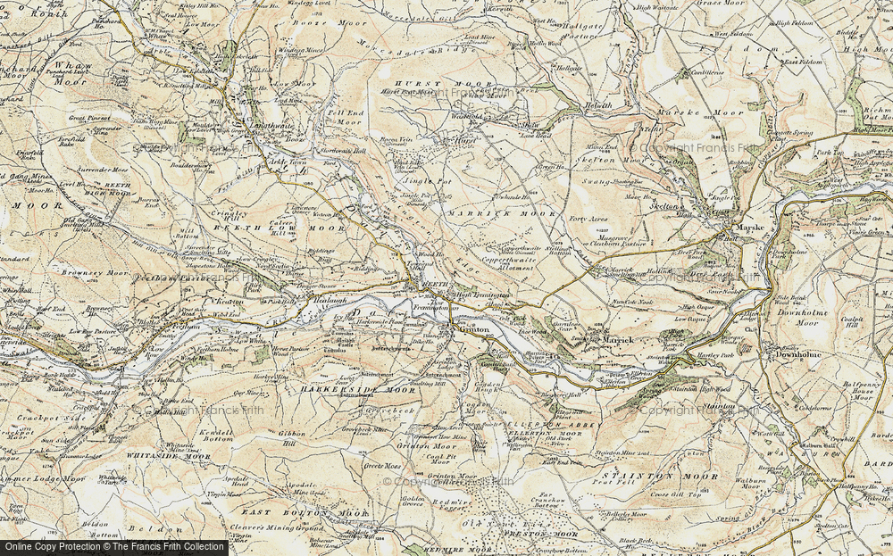 Old Map of Fremington, 1903-1904 in 1903-1904