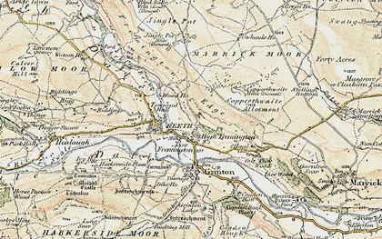 Old map of Fremington in 1903-1904