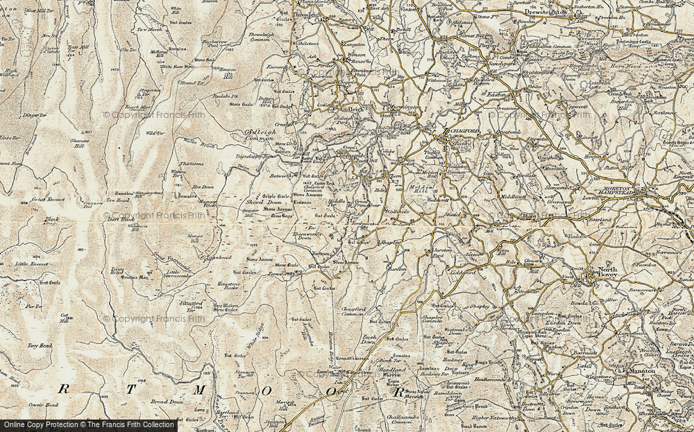 Old Map of Historic Map covering Assycombe Hill in 1899-1900
